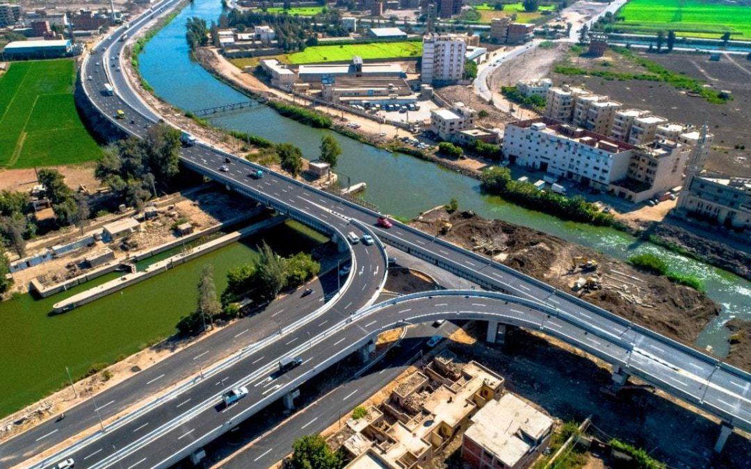 صور.. كوبرى دكرنس بالدقهلية بعد انتهاء تنفيذه وتشغيله تجريبيا.. تنفيذ شركة النيل العامة لإنشاء الطرق
